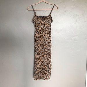 Nasty Gal Leopard Midi Dress